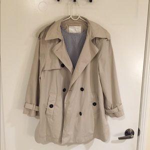 Zara trench coat with detachable hood size small